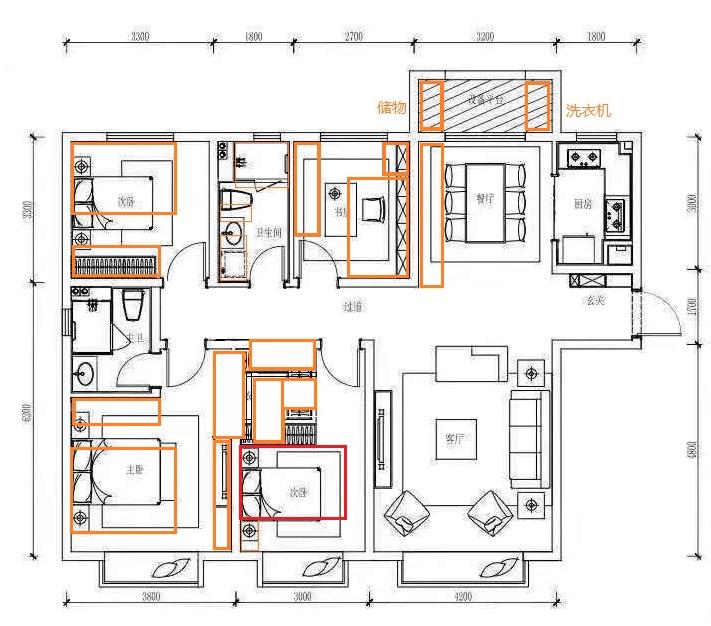 被开发商缩小家具尺寸的户型图2
